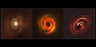 Tres discos protoplanetarios