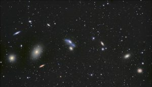 Cadena de Markarian. Astronomía Mayo 2018