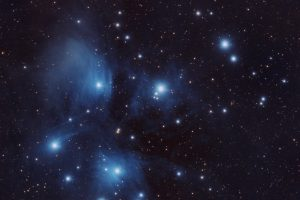 Cúmulo de las Pléyades. Astronomía Mayo 2018