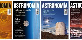 Portadas de revistas astronomía