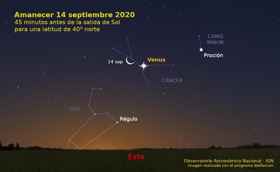 cielo del mes de septiembre