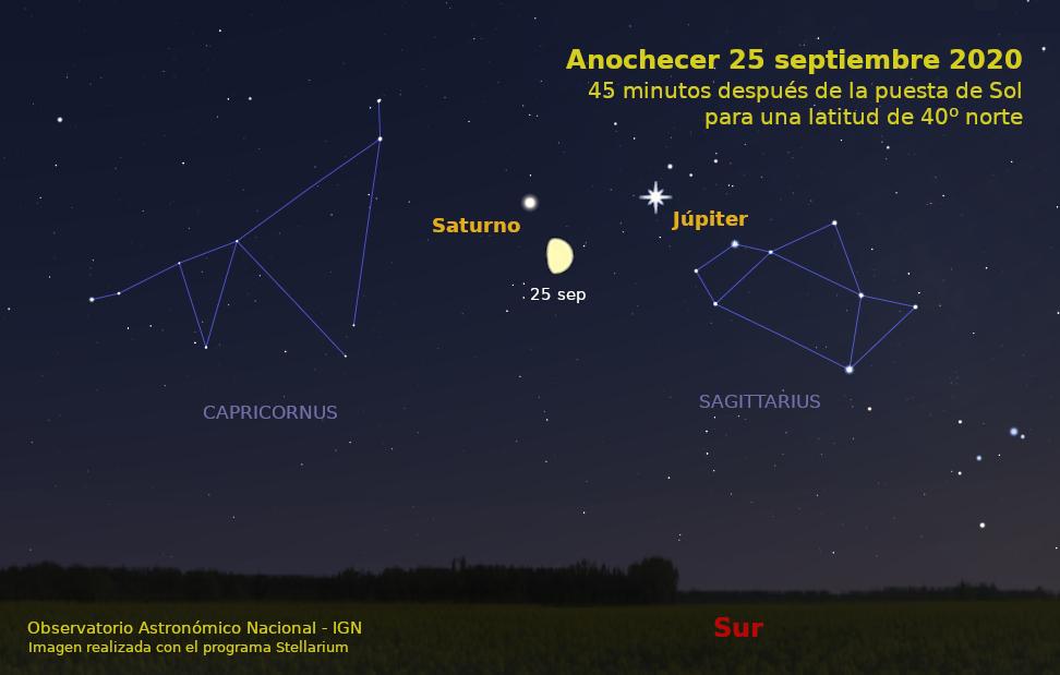 cielo del mes septiembre