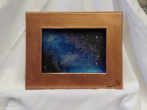 Obra en carton, nebulosa en pintura nacarada I