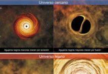 Cómo crecen los agujeros negros