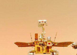 Zhurong rueda por Marte